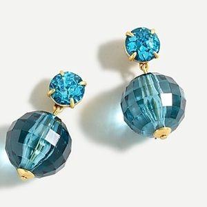 NWT J Crew Crystal Disco Ball Drop Earrings